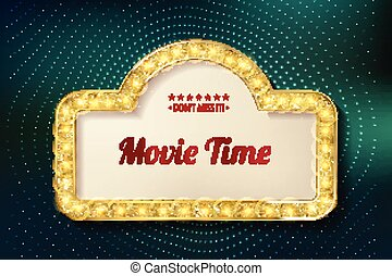Movie time cinema premiere poster design.