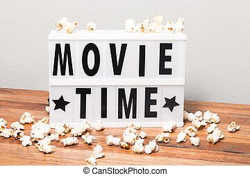 Movie time lightbox