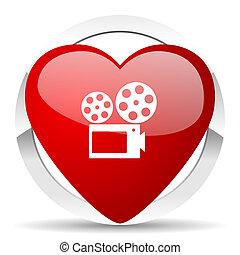 movie valentine icon cinema sign