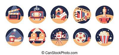 Movie Vector Icon Set