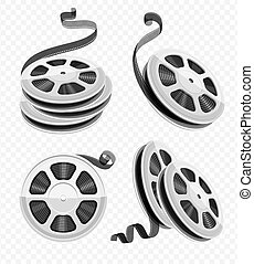 Movie video movie film disks with tape set