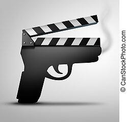 Movie Violence Concept