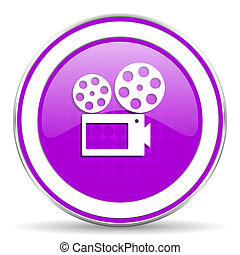 movie violet icon cinema sign
