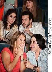 Moviegoers in Suspense