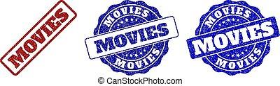 MOVIES Grunge Stamp Seals