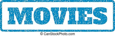 Movies Rubber Stamp
