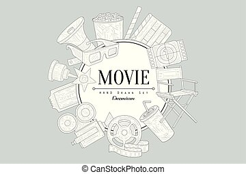 Movies Vintage Sketch