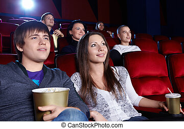 Movies - Young people in the cinema