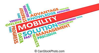 movilidad, palabra, nube