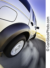 movimento, automobile, 4x4