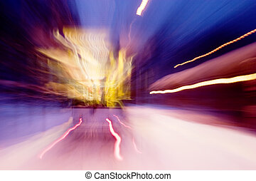 movimento, automobile, strada