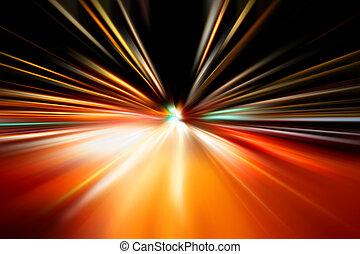 movimento, automobile, strada, velocità