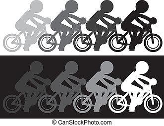 movimento, bicicleta, desvanecer