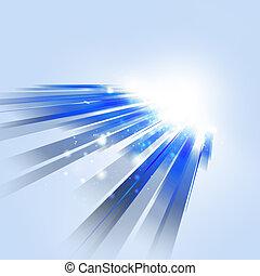movimento, blu, astratto, tecnologia, fondo