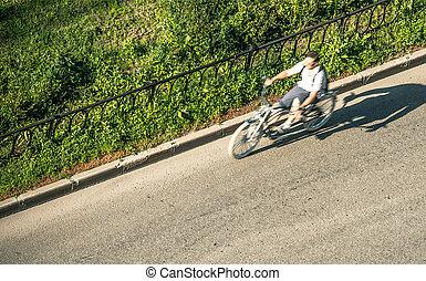 movimento, ciclista