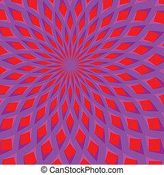 movimento, fiore, azzurramento, illusione