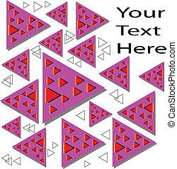 movimento, galleggiante, illusione, triangoli