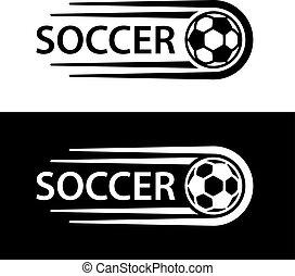 movimento, linha, futebol, símbolo, bola