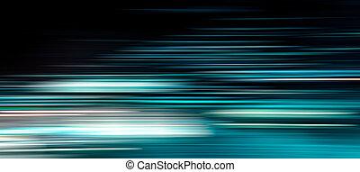 movimento, luz, simulação, borrão, transferência, linha, dados, velocidade