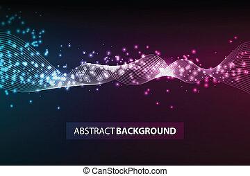 movimento, luzes, abstratos, linhas