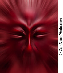 movimento, maschera, sfondo rosso, blurry