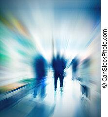 movimento, povos, blurry