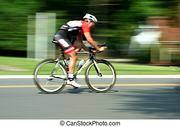 movimento, raça, bicicleta, obscurecido