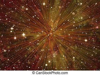 movimento, raggi, sfondi, stelle, spazio