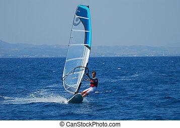 movimento, windsurfing