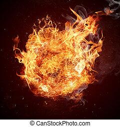 movimiento, caliente, llama, fuegos