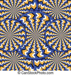 movimiento, illusion-o, ilusión