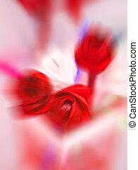 movimiento, rosa, mancha, rojo