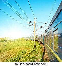 movimiento, tren