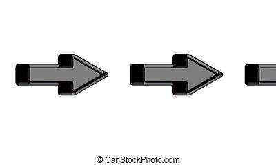 moving 3d arrows