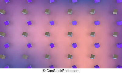 Moving 3D cubes in formation