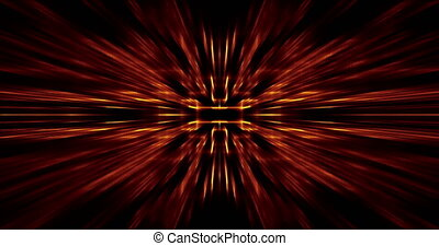 moving abstract geometric radiant luminos template on black background