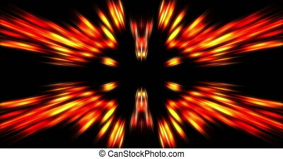 moving abstract geometric radiant luminos template on black...