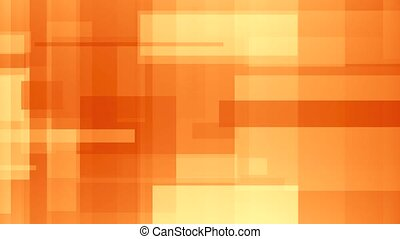 Moving abstract orange rectangles. Loopable motion background