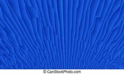 Moving abstract surface in blue
