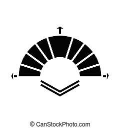 Moving around black icon, concept illustration, vector flat symbol, glyph sign.