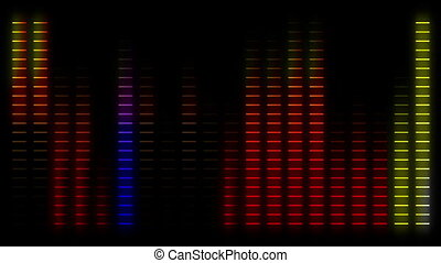 Moving bars of colorful audio equalizer abstract
