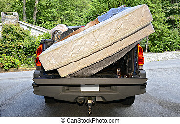 Moving Belongings in a Truck