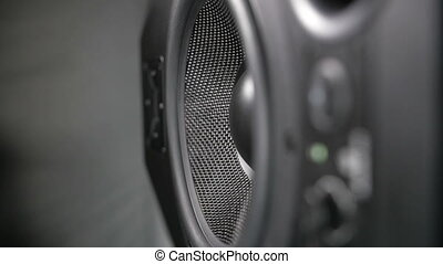 Moving Black Speaker