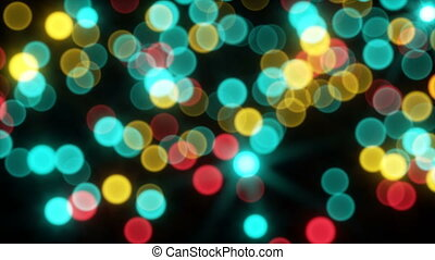 Moving bokeh light sparkles seamless loop in 4k