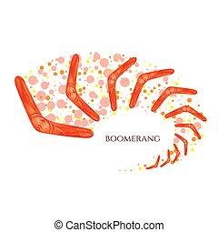 Moving boomerang symbol