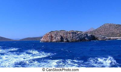Moving Camera around Rocks in Mediterranean Sea, Crete
