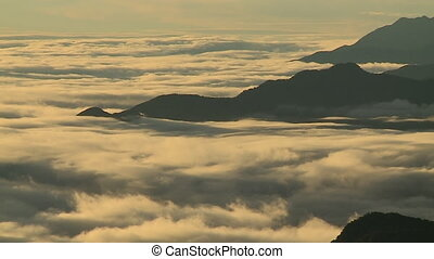 Moving Clouds Above Mountain Ranges, Andes, Peru - Wide...
