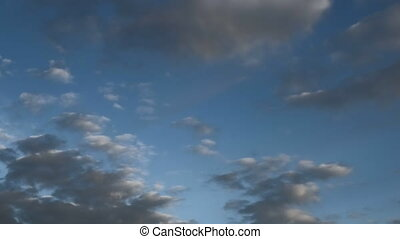 moving clouds and blue sky, The vast blue sky and clouds...