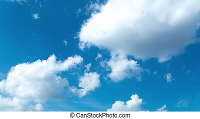 Moving Clouds and Blue Sky