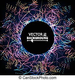 Moving Colorful Lines. Abstract Vector Background. For...